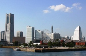 Panoramica Minato Mirai vista dal mare